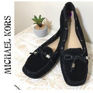 Michael Kors Black Suede Loafers 8.5 EUC